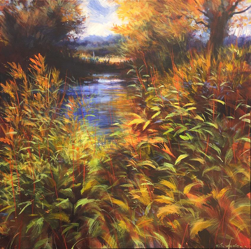 Nick-Andrew-Opulea-acrylic-on-canvas-91x91cm