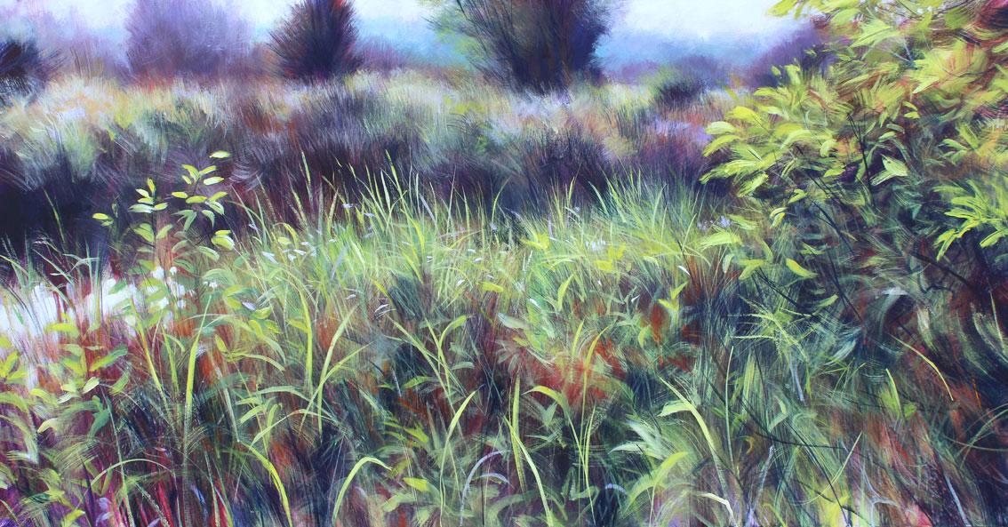 Nick Andrew. 'Matutea'. Acrylic on canvas. 137 x 71cm..