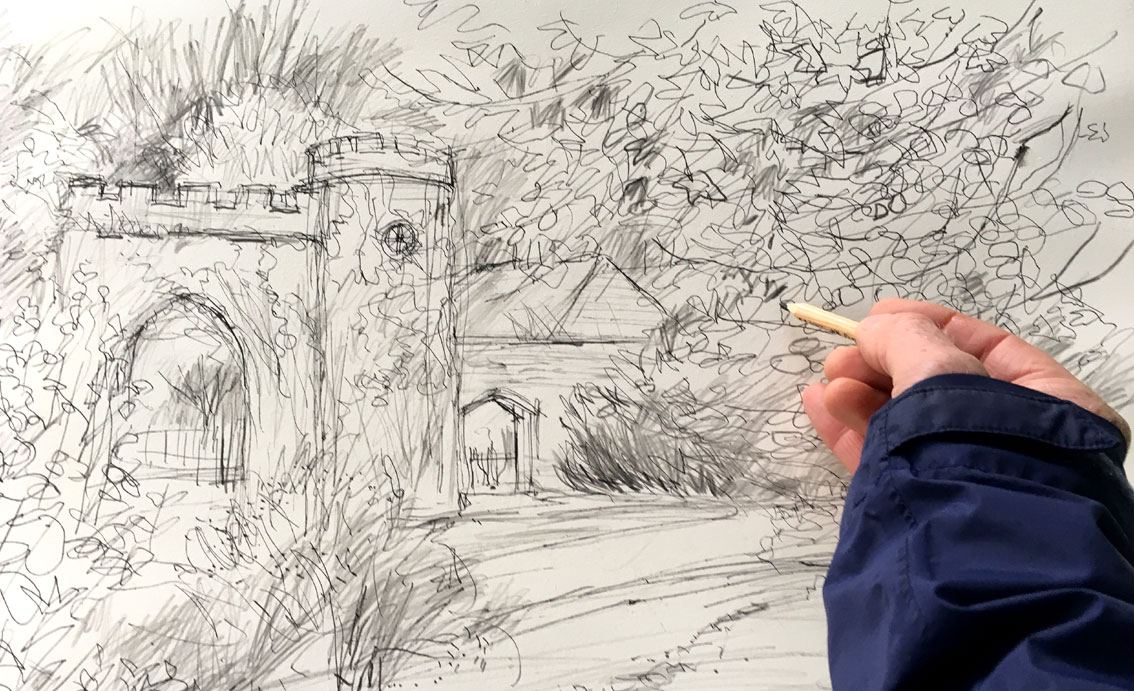 drawing-clock-arch