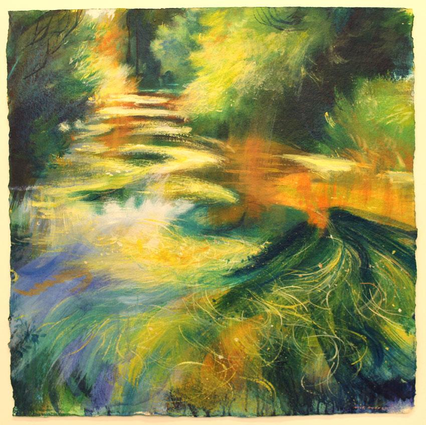'VITERA' Acrylic on paper. 72 x 72cm 2001
